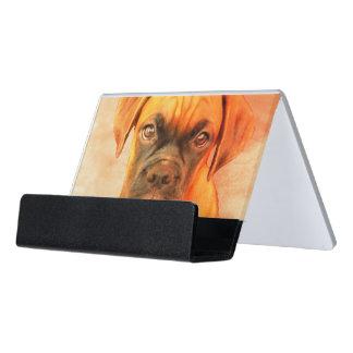 Boxer dog  business card holder desk business card holder