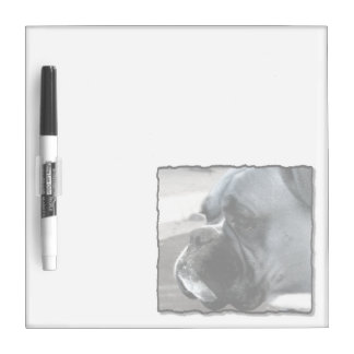 Boxer dog dry erase board Small w/ Pen