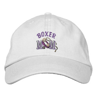 Boxer Dog Mom Embroidered Hat