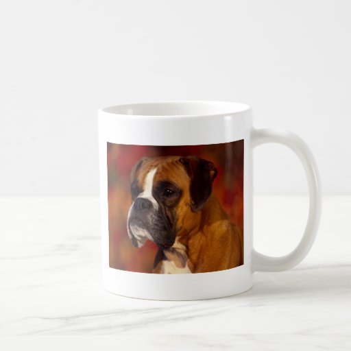 Boxer dog coffee mugs