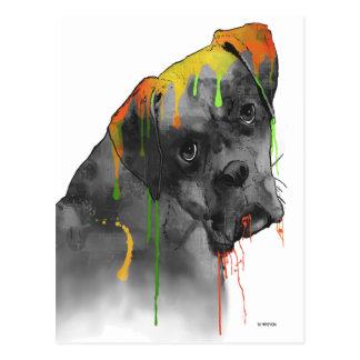 Boxer Dog Postcard