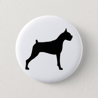 Boxer Dog Silhouette 6 Cm Round Badge