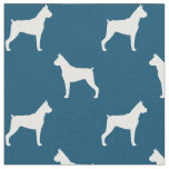 Boxer Dog Silhouettes Pattern Fabric