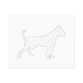 Boxer Dog Winter Art Stretched Canvas Prints