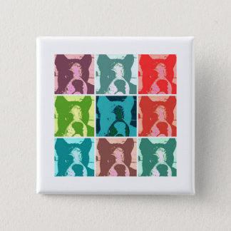 Boxer Dogs 15 Cm Square Badge