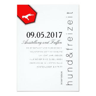Boxer Hunde Einladung 13 Cm X 18 Cm Invitation Card