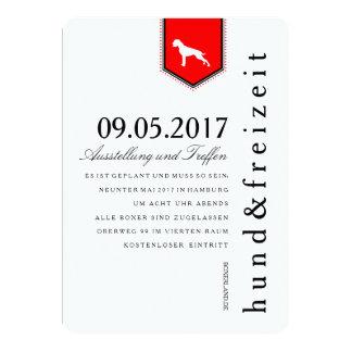 Boxer Hunde Einladung Card