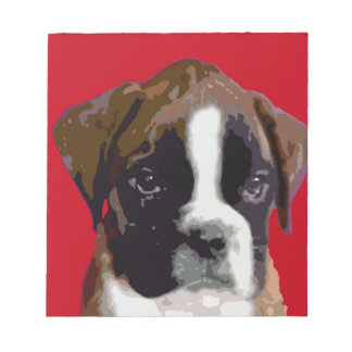 Boxer puppy dog notepads