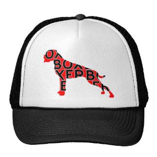 Boxer Text Hund Dog Cap