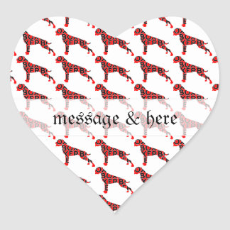 Boxer Text Hund Dog Heart Sticker