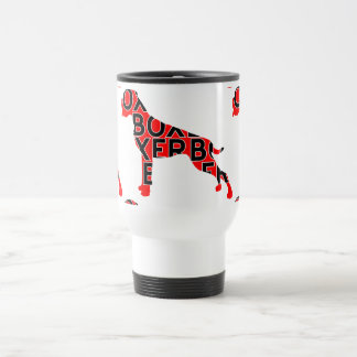 Boxer Text Hund Dog Stainless Steel Travel Mug