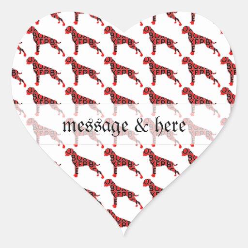 Boxer Text Hund Dog Stickers
