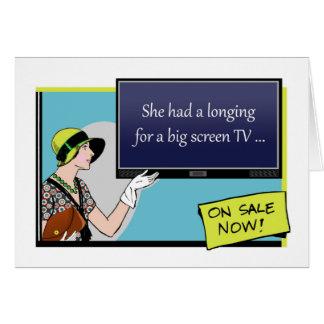 Boxing Day, Funny Retro Illustration, Big Screen Greeting Card