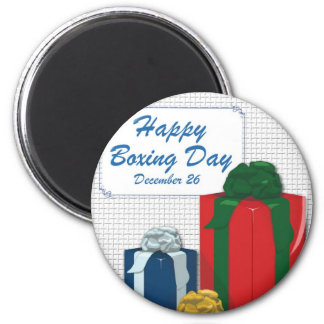 Boxing Day 6 Cm Round Magnet