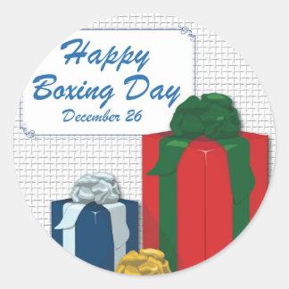 Boxing Day Round Sticker