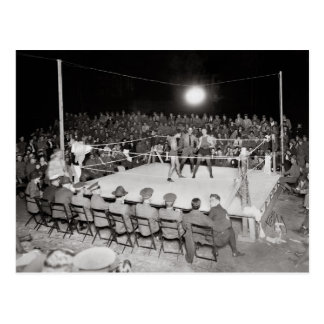 Boxing Match, 1919 Postcard