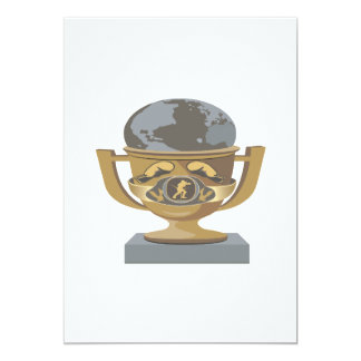 Boxing Trophy 5x7 Paper Invitation Card