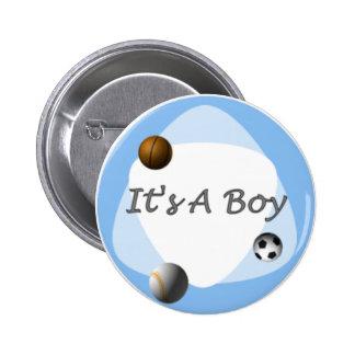 Boy 6 Cm Round Badge
