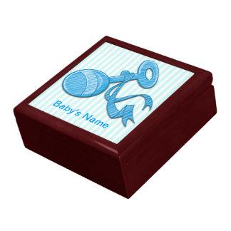 Boy Baby Rattle Gift Box/Trinket Box Large Square Gift Box