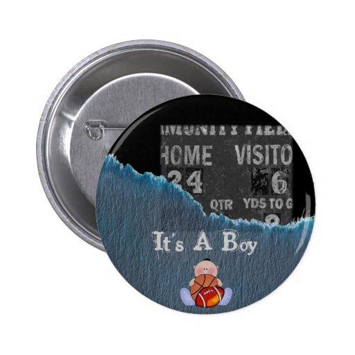 Boy-baby shower pins