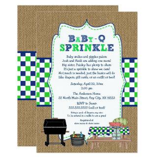BOY BabyQ Sprinkle, BBQ Baby Shower, BABY Q Card