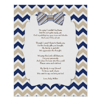 BOY Bow Tie Baby Shower Thank you decor