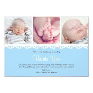 Boy Christening/Baptism Thank You Card