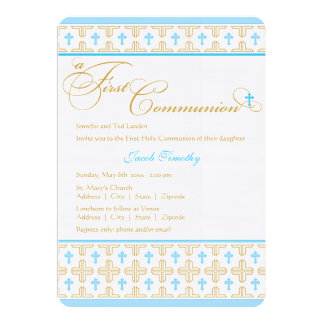 Boy First Communion Invitation