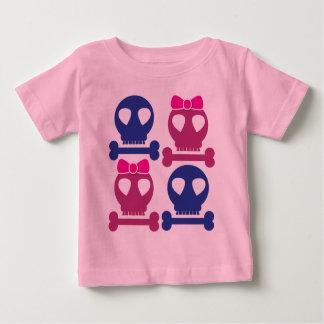 BOY GIRL skulls Rockabilly design Baby T-Shirt