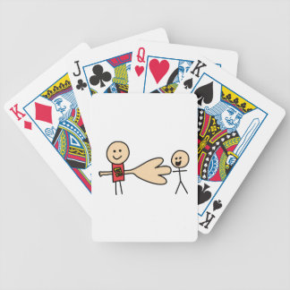 Boy Offering Shake Hand Peace Friend Friendship Bicycle Playing Cards