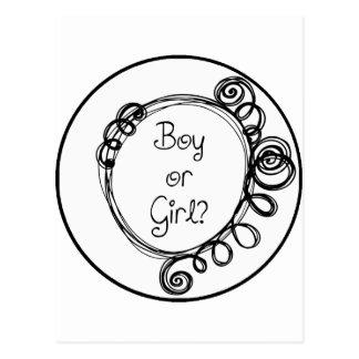Boy or Girl Doodle Milestone Postcard