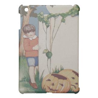 Boy Pumpkin Vine Jack O' Lantern Full Moon Cover For The iPad Mini