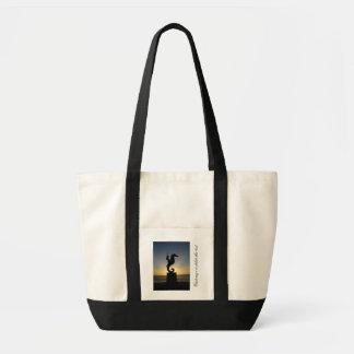 Boy Riding Seahorse; Customizable Tote Bag