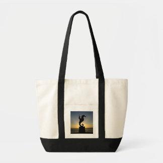 Boy Riding Seahorse Tote Bag
