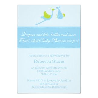 {boy} stork baby shower invitation