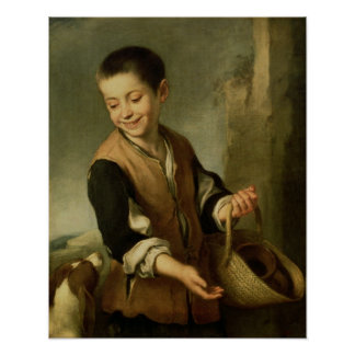 Boy with a Dog, c.1650 Poster