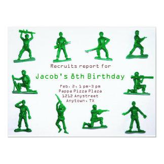 Boys Army Theme Birthday Invitation