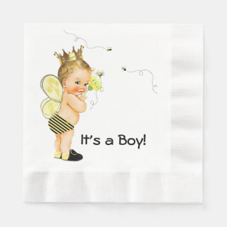 Boys Bee Baby Shower Disposable Serviette