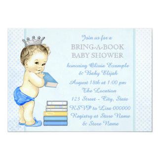 Boys Book Baby Shower Card