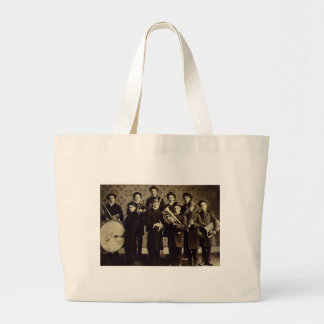 Boys Brass Band, Warsaw Indiana Vintage Large Tote Bag