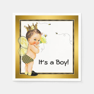 Boys Bumble Bee Baby Shower Disposable Napkin