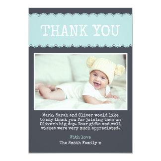 Boys Christening Thank You Card