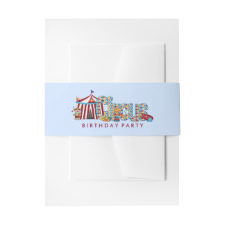 Boys Circus Invitation Belly Band