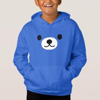 Boy's Kawaii Teddy Bear Fleece Pullover Hoodie