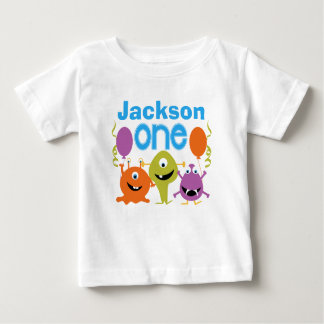 Boy's Personalised Monsters 1st Birthday T-shirt