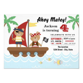 Shop Zazzle's selection of pirate birthday invitations for your party!