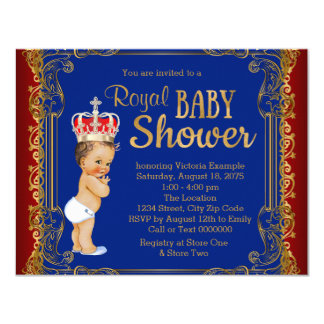 Boys Prince Baby Shower Card