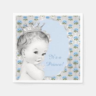 Boys Prince Baby Shower Disposable Napkin