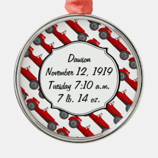 Boys Room Classic Car Gifts Sweet red Retro Car Silver-Colored Round Decoration
