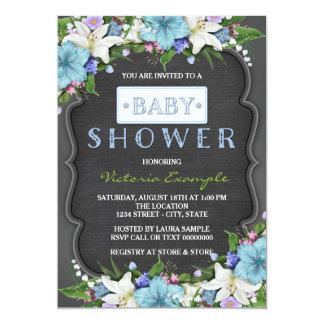 Boys Rustic Chalk Baby Shower Card